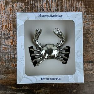NWT Tommy Bahama Silver Crab Bottle Stopper